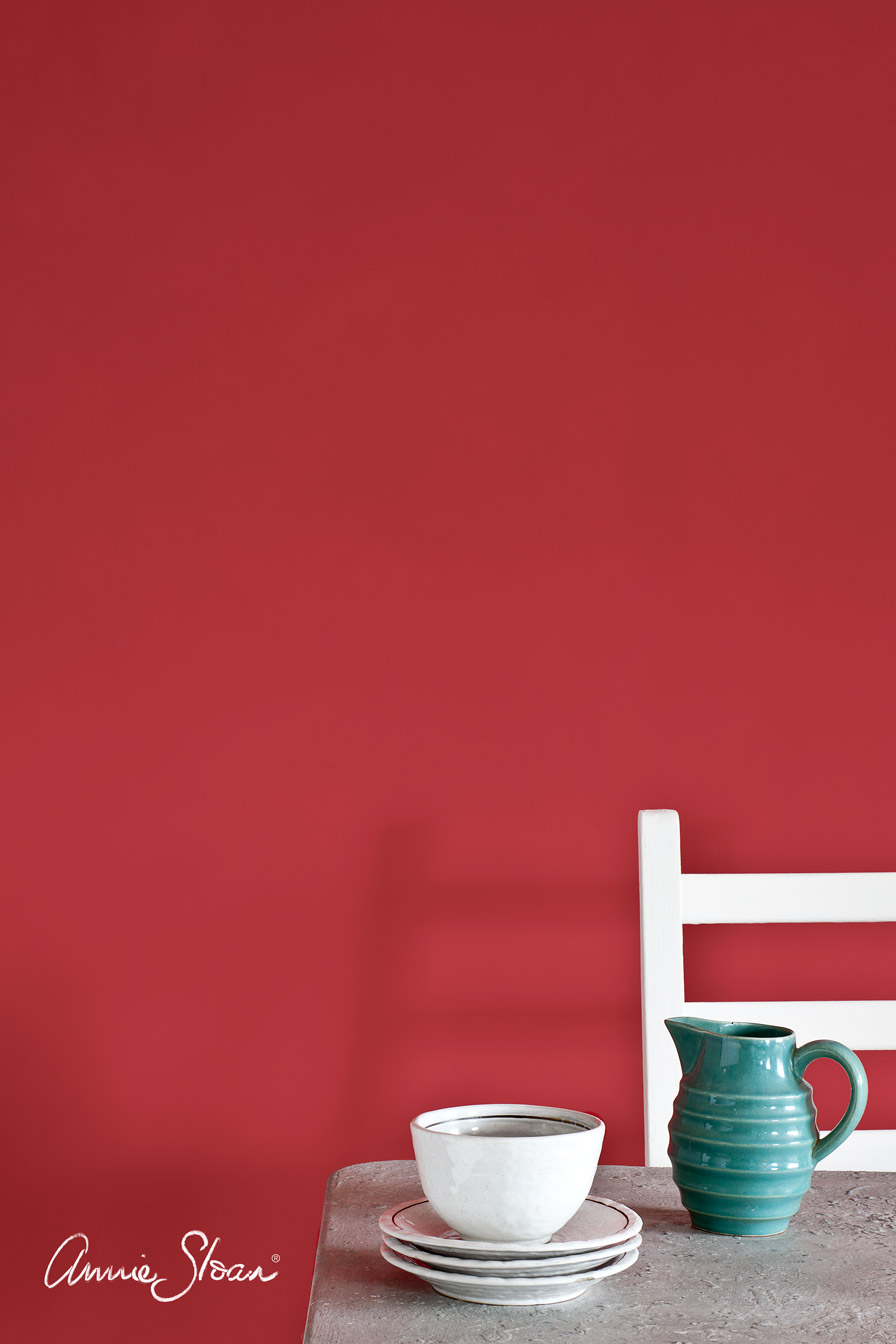 Red Paint Wall Anniesloan Wallpaint Emperors Silk Red Annie Sloan Chalk Paint In