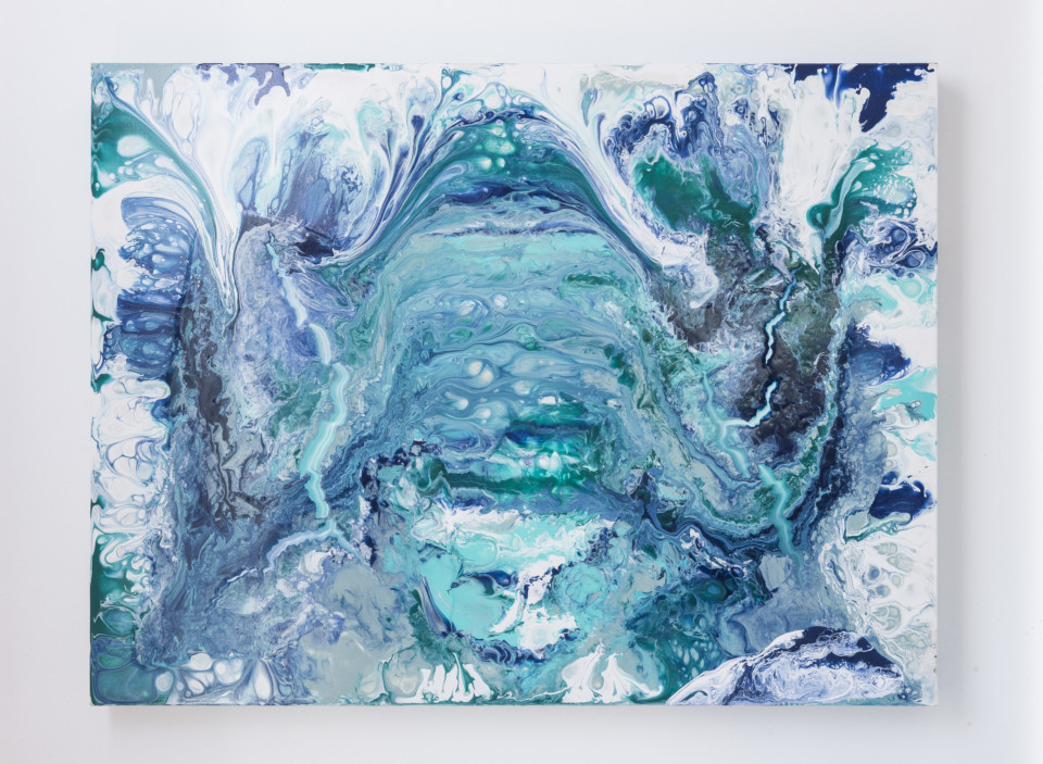 High Gloss finish Epoxy Resin finish Acrylic Painting Original Artwork Abstract acrylic pour Abstract Garden